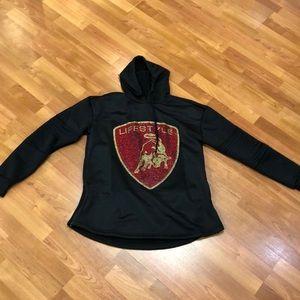Rogue sport black hoodie pullover, side zippers